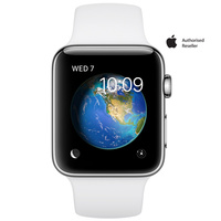 Apple Watch Series 1 42mm Stainless Steel Case White Sport Band