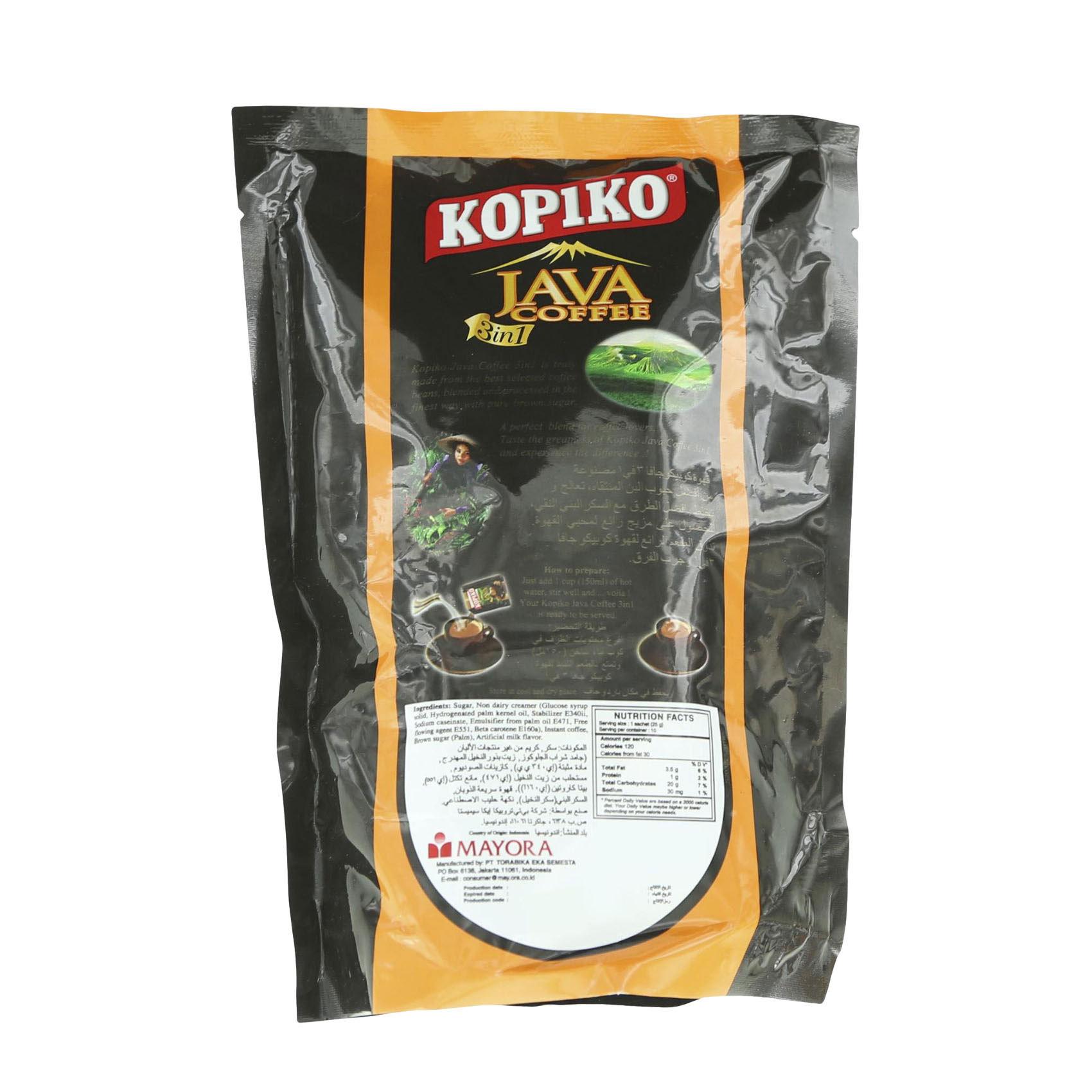 KOPIKO JAVA COFFEE 3IN1 BOX 25GX10