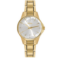 Lee Cooper Women's Analog Gold Case Gold Super Metal Strap Silver Dial -LC06352.130