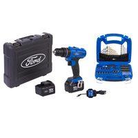 Ford Cordless Impact Dril 18V+74Pcs Mix Drills And Bits