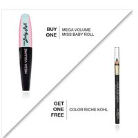 L'Oreal Paris - Eye Bundle - Mega Volume Miss Baby Roll + Color Riche Kohl