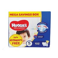 Huggies Diapers Mega Box Size 5 Up To 40 Diapers Free
