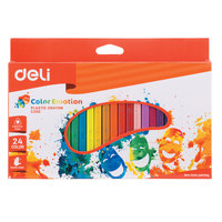 Deli Colored Pencil Wooden 24 Color