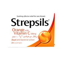 Strepsils Orange Vitamin C 100MG