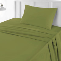 Tendance's Fitted Sheet Single Vende Green 99X193