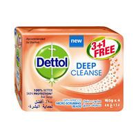 Dettol Deep Cleanse Bar Soap Family Pack 165GR X4