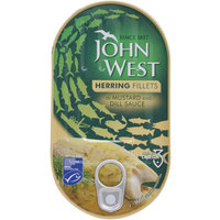 John West Herring Fillets In Mustard And Dill Sauce 160 g