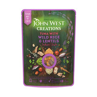 John West Creations Indian Tuna Rice & Lentils 180GR