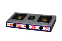 First1 Gas Hob, 3 Burners, Stainless Steel - F1144