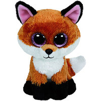 Ty Beanie Boos Fox Slick Brown white 9""