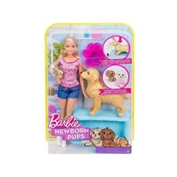 Barbie Newborn Pups & Doll Playset