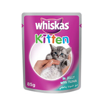 WHISKAS® In Jelly with Tuna Wet Cat Food Kitten Up to 1 year Pouch 85g