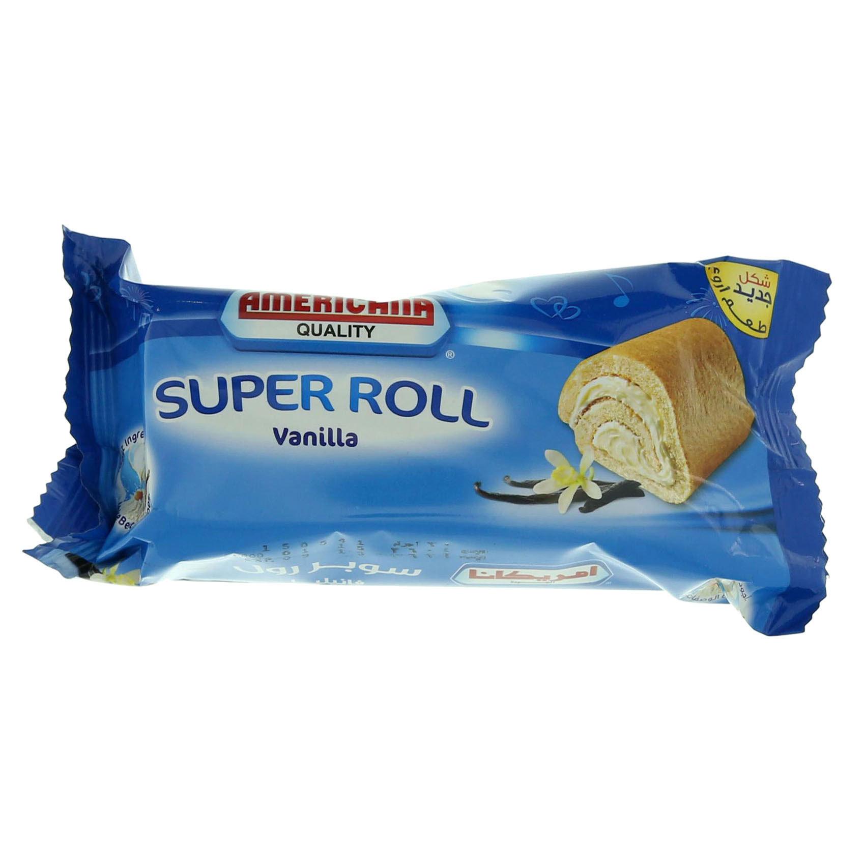 AMERICANA SUPER ROLL VANILLA 60G