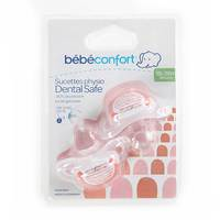 Bebeconfort Dental Safe Silicone Soothers Little Valleys Red (18 -36 M) x2