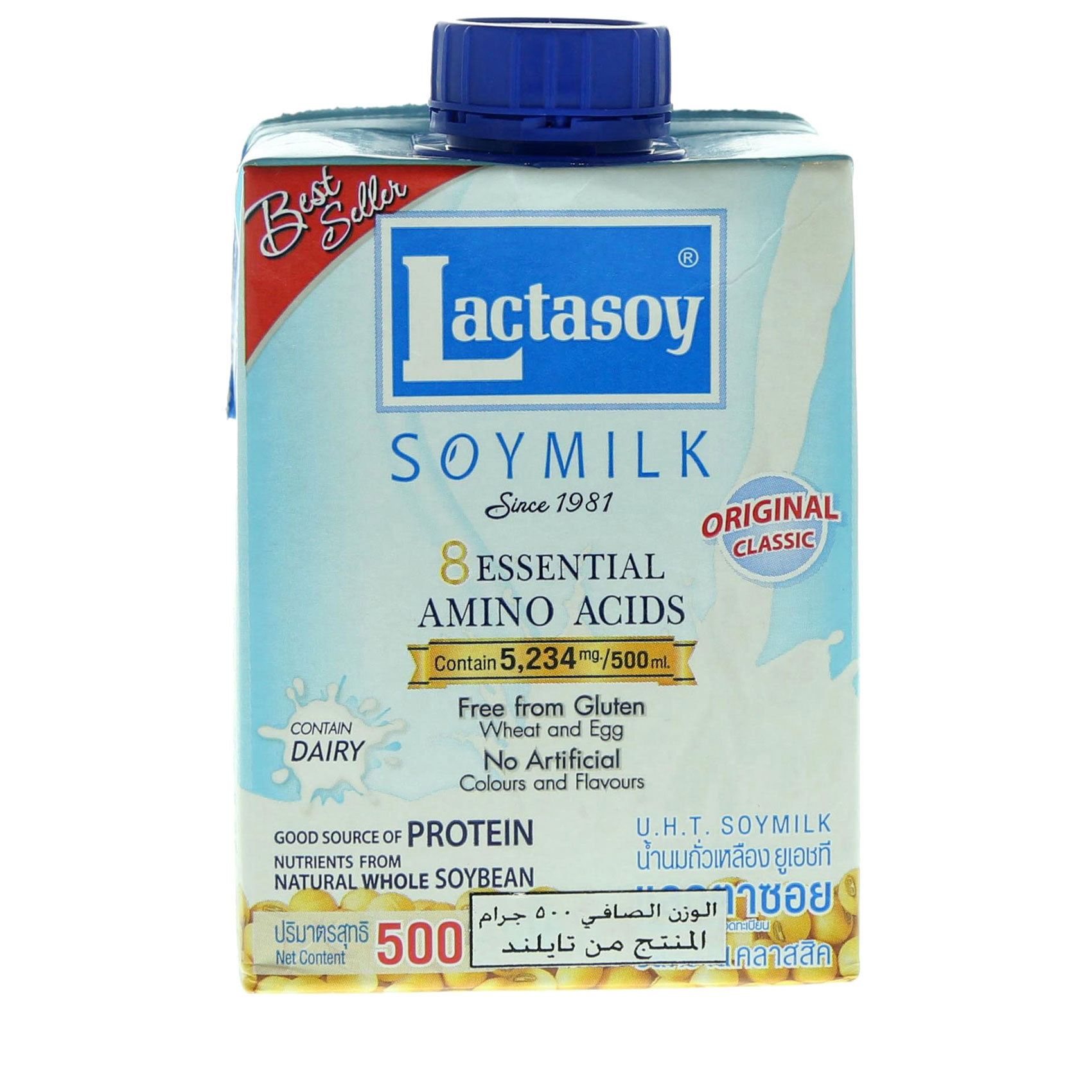 LACTASOY PLAIN 500ML