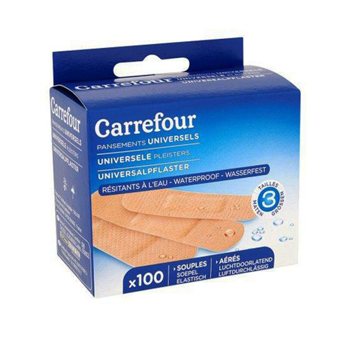 Carrefour-Universal-Waterproof-Dressings-x-100