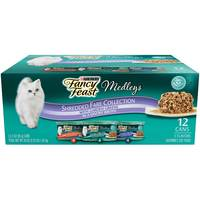 Purina Fancy Feast  Elegant Medleys Shredded Fare Collection Cat Food 1.02Kg (12 Cans)