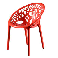 Shabaka Chair Red 60X60X79.5Cm