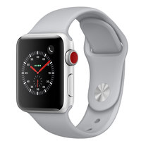 Apple Watch Series-3 38mm GPS+ Cellular Silver Aluminium Case With Fog Sport Band (MQKF2AE/A)