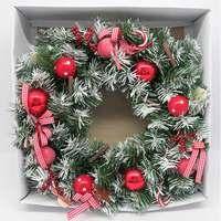 Wreath Elegant and Decorative -Red 45Cm
