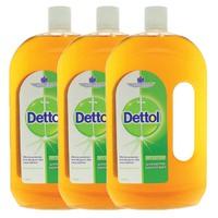 Dettol Antiseptic Disinfectant Liquid 1 L x3
