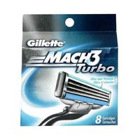Gillette Mach 3 Turbo Blades Pack Of 8