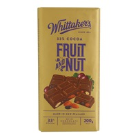 Whittaker's Fruit And Nut Bar 200g