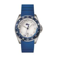 Lacoste Men's Watch Westport Analog Silver Dial Blue Silicon Band 43mm  Case