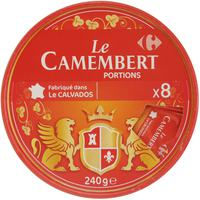 Carrefour Camembert Cheese Portions 240gx8 Pieces