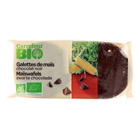 Carrefour Bio Organic Dark Chocolate Corn Cakes 100g