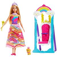 Barbie Princess Swing Fashion Doll Playset