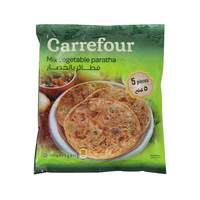 Carrefour mix vegetable paratha 5 pieces 400 g