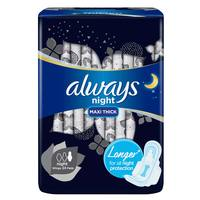Always Extra Dry & Clean Layer Black Night With Wings 24 Pads