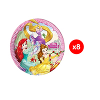 Disney Plates Princess Dreaming 23CM 8 Pieces