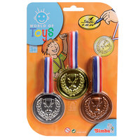 World Of Toys Plastic Medal 3Pcs