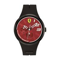 Scuderia Ferrari Men's Watch FXX Analog Red Dial Black Silicon Band 46mm Case