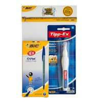 BIC Crystal 0.7 Blue B12 + Shake and Squeeze Bl1