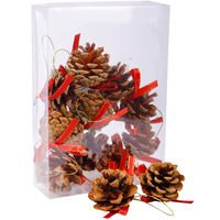 Chamdol 12 Pcs Christmas Pinecone