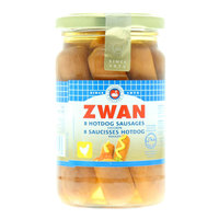 Zwan 8 Hotdog Chicken Sausages 270g