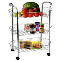 Vegetable Trolley St/Steel 3Layers