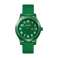 Lacoste Kids's Watch L12.12 Analog Green Dial Green Rubber Band 32mm  Case