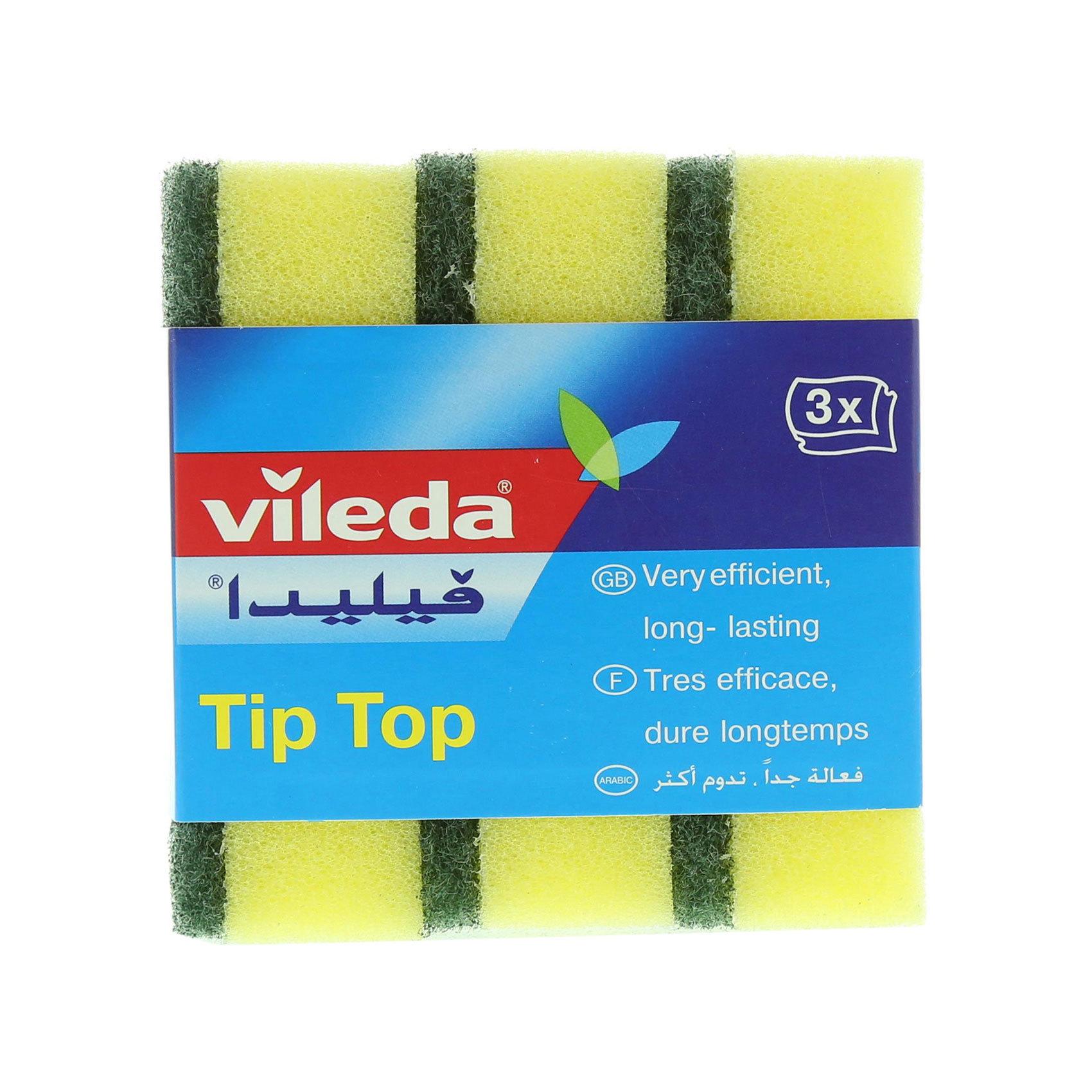 VILEDA TIP TOP SCOURING SPONGE X3