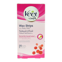 Veet Normal Skin Wax Strips With Easy Grip 20 Pieces