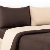 Tendance King Comforter 4pc Set Beige/Brown