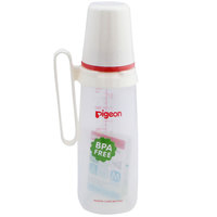 Pigeon Plastic Feeding Bottle With Handle 240 ml