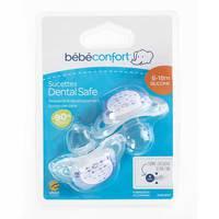 Bebeconfort Dental Safe Silicone Soothers Little Valleys Blue (6 -18 M) x2