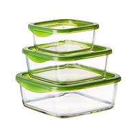 Luminarc Keep 'N' Box Rectangular Food Saver N0019 3 Pieces