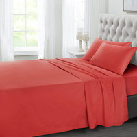 Tendance's Fitted Sheet Double Red Tomato 137X193