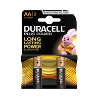 Duracell Plus Power Type AA Alkaline Battery X2