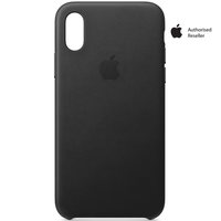 Apple Case iPhone XS Leather Black
